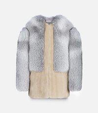 лоскутное пальто без воротника Christopher Kane