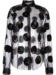 прозрачная блузка с пайетками MSGM