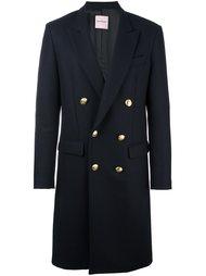 двубортное пальто средней длины Palm Angels