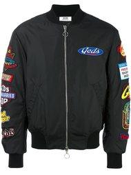 куртка-бомбер с заплатками Gcds