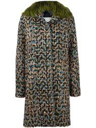 пальто с отделкой из искуственного меха  Maison Margiela