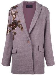 пальто-кардиган с аппликацией из пайеток Etro
