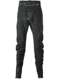 брюки с эффектом потертости Masnada