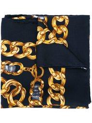 шарф с принтом цепей  Chanel Vintage