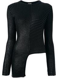 асимметричный пуловер с круглым вырезом Nude