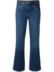 укороченные расклешенные джинсы Tory Burch