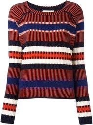 полосатый свитер контрастной вязки Tory Burch
