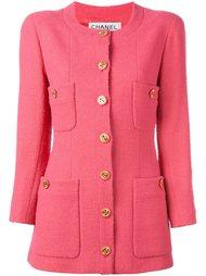 пиджак без воротника  Chanel Vintage