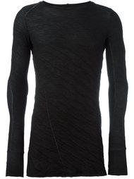 футболка с длинными рукавами и контрастной отделкой Masnada