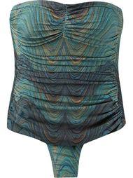abstract print draped swimsuit Lygia & Nanny