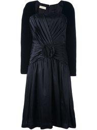 плиссированное расклешенное платье  Versace Vintage