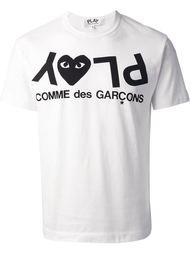 футболка с принтом 'Play' Comme Des Garçons Play