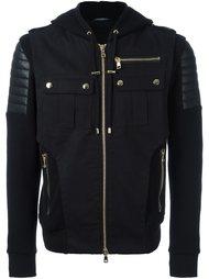 куртка-бомбер с капюшоном  Balmain