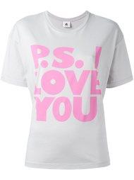 футболка с принтом P.S. I love  Ps By Paul Smith