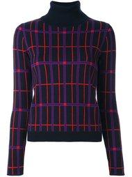 пуловер с отворотной горловиной в клетку Carven