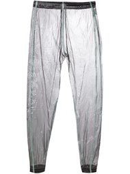 зауженные брюки с эффектом металлик Cottweiler