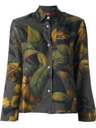 пижамная рубашка с узором листьев For Restless Sleepers