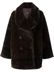 пальто из искусственного меха Fendi Vintage