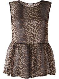 полупрозрачная блузка с леопардовым принтом P.A.R.O.S.H.