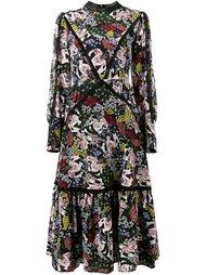 платье миди с цветочным узором Erdem