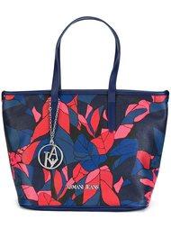 средняя сумка-тоут с принтом 'leaves' Armani Jeans