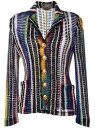 блейзер в полоску  Versace Vintage