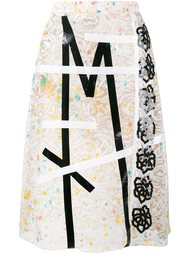 кружевная юбка с вышивкой Christopher Kane