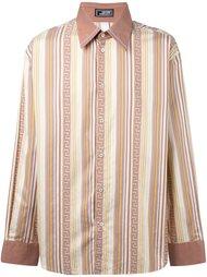 полосатая рубашка 'Greca' Versace Vintage