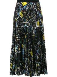 юбка со складками и цветочным узором Erdem