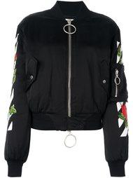куртка бомбер с розами Off-White