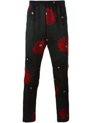 прямые брюки с цветочным узором MSGM