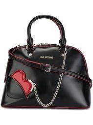 сумка-тоут с подвеской-сердцем Love Moschino