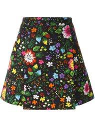 юбка с цветочным принтом   Victoria Victoria Beckham