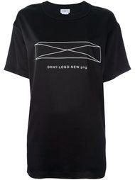 топ с логотипом  DKNY