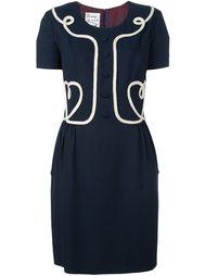 платье с контрастной окантовкой  Moschino Vintage