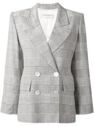 пиджак в клетку Yves Saint Laurent Vintage