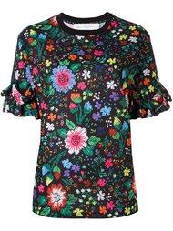 блузка с цветочным принтом   Victoria Victoria Beckham