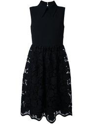 платье без рукавов с кружевной юбкой Nº21