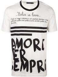 футболка с принтом Italia is love Dolce & Gabbana
