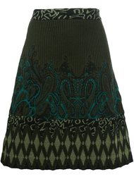 трикотажная юбка А-образного силуэта Etro