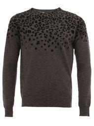 свитер с леопардовым принтом   Kolor