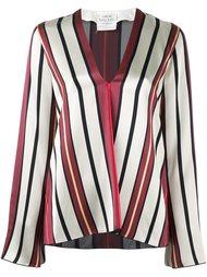 блузка в полоску с V-образным вырезом Forte Forte