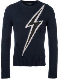 свитер с принтом молнии Marc Jacobs