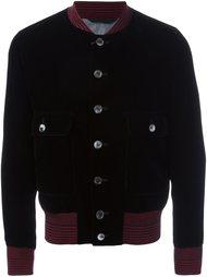 бархатная куртка бомбер Alexander McQueen