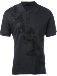 рубашка-поло с бабочками Alexander McQueen