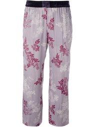укороченные брюки с цветочным узором Forte Forte