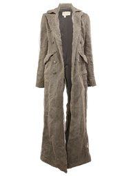 декорированное пальто из шелкового микса   Greg Lauren