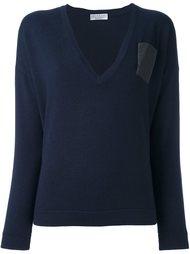 декорированный свитер  Brunello Cucinelli