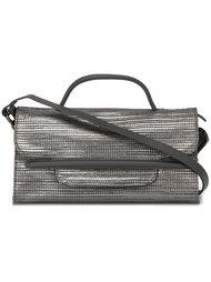 сумка на плечо с эффектом металлик Zanellato