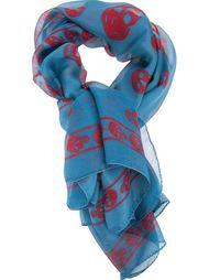 шарф с принтом с черепами Alexander McQueen